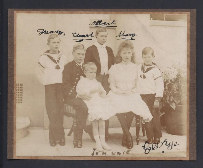 Children of King George V & Queen Mary Signed Autograph Photo c. 1909